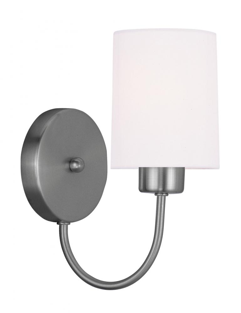 1 Light Brushed Nickel Wall Sconce