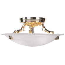 Livex Lighting 4272-02 - 3 Light Polished Brass Ceiling Mount