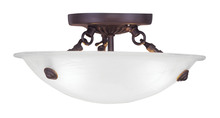 Livex Lighting 4272-07 - 3 Light Bronze Ceiling Mount