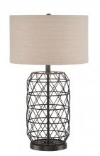 Lite Source Inc. LSF-22947 - Table Lamp, Black Metal/Linen Fabric Shade, E27 Cfl 25W/3Way