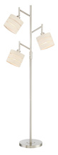 Lite Source Inc. LSF-83040 - 3-Lite Floor Lamp, Bn/Linen Shade, E27 Cfl 13Wx3