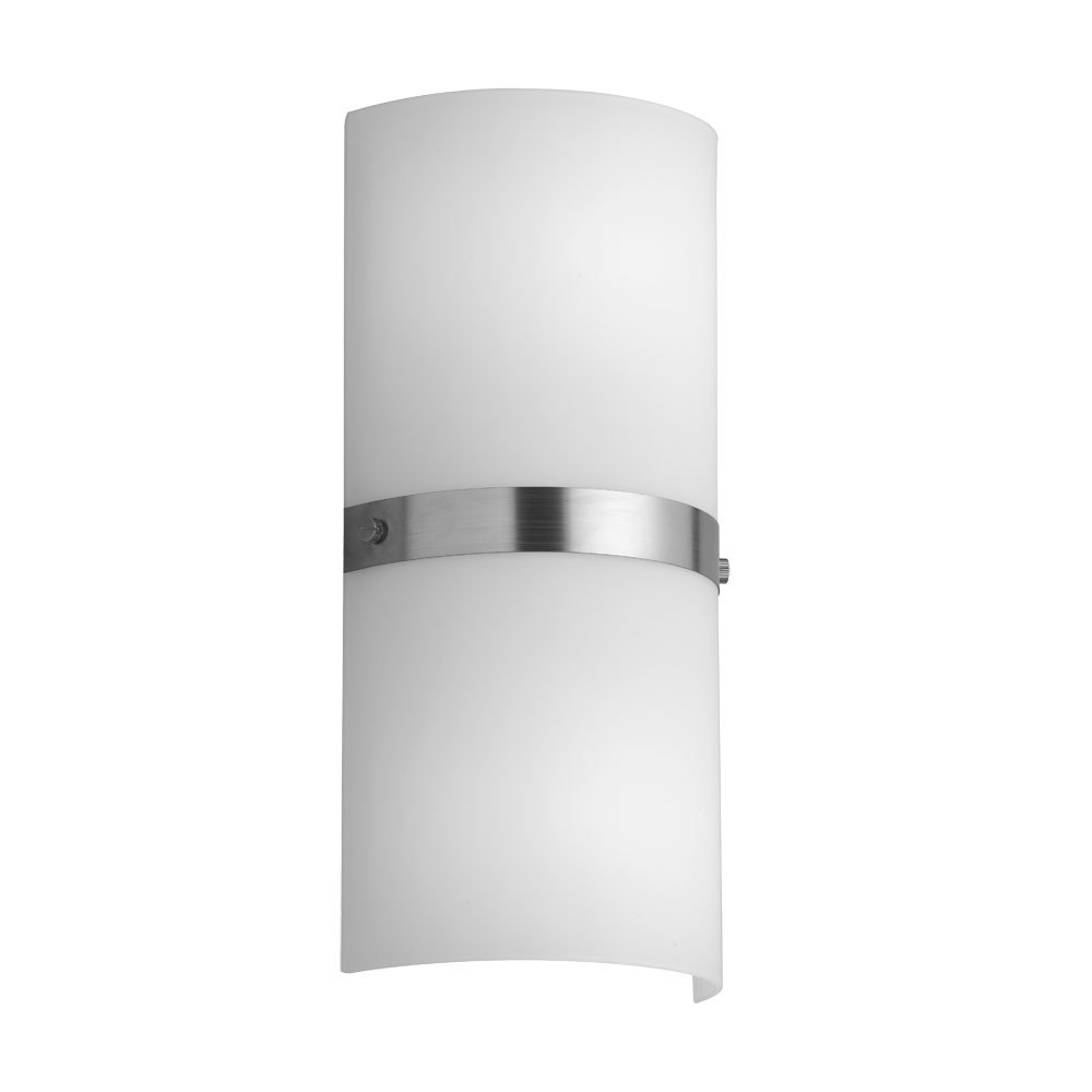 2LT Wall Sconce,White Frosted Glass