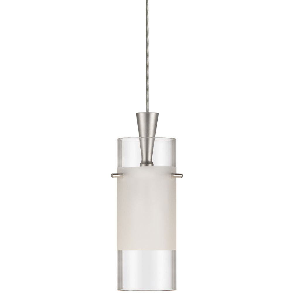Single Pendant, Clear Frosted Glass