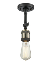 Innovations Lighting 200F-BBB - Bare Bulb Semi-Flush With Swivel