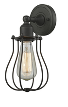 Innovations Lighting 513-1W-OB - Metal Cage 1 Light Wall Sconce