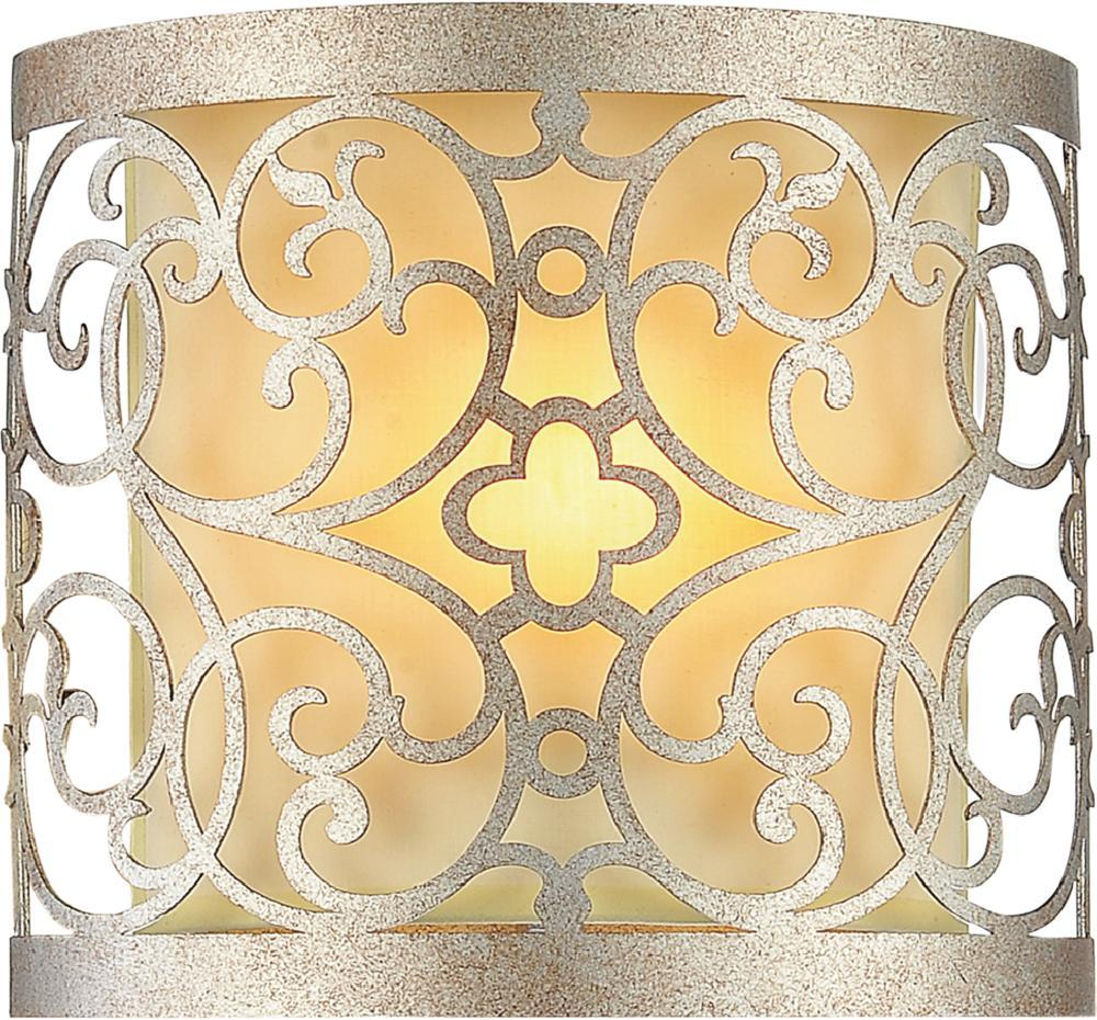 1 Light Rubbed Silver Wall Light from our Alexandra collection