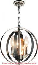 Crystal World 9811P10-3-604 - 3 Light Up Mini Pendant with Antique Brass finish