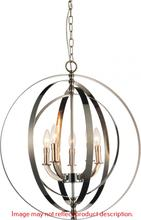 Crystal World 9811P22-5-604 - 5 Light Up Chandelier with Antique Brass finish