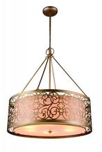 Crystal World 9832P18-4-106 - 4 Light Rubbed Silver Drum Shade Chandelier from our Alexandra collection