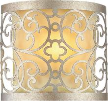 Crystal World 9832W8-1-106 - 1 Light Wall Sconce with Rubbed Silver finish