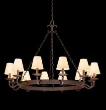 Troy F2716 - LYON 12LT CHANDELIER LARGE