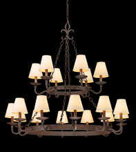 Troy F2717 - LYON 18LT CHANDELIER 2 TIER