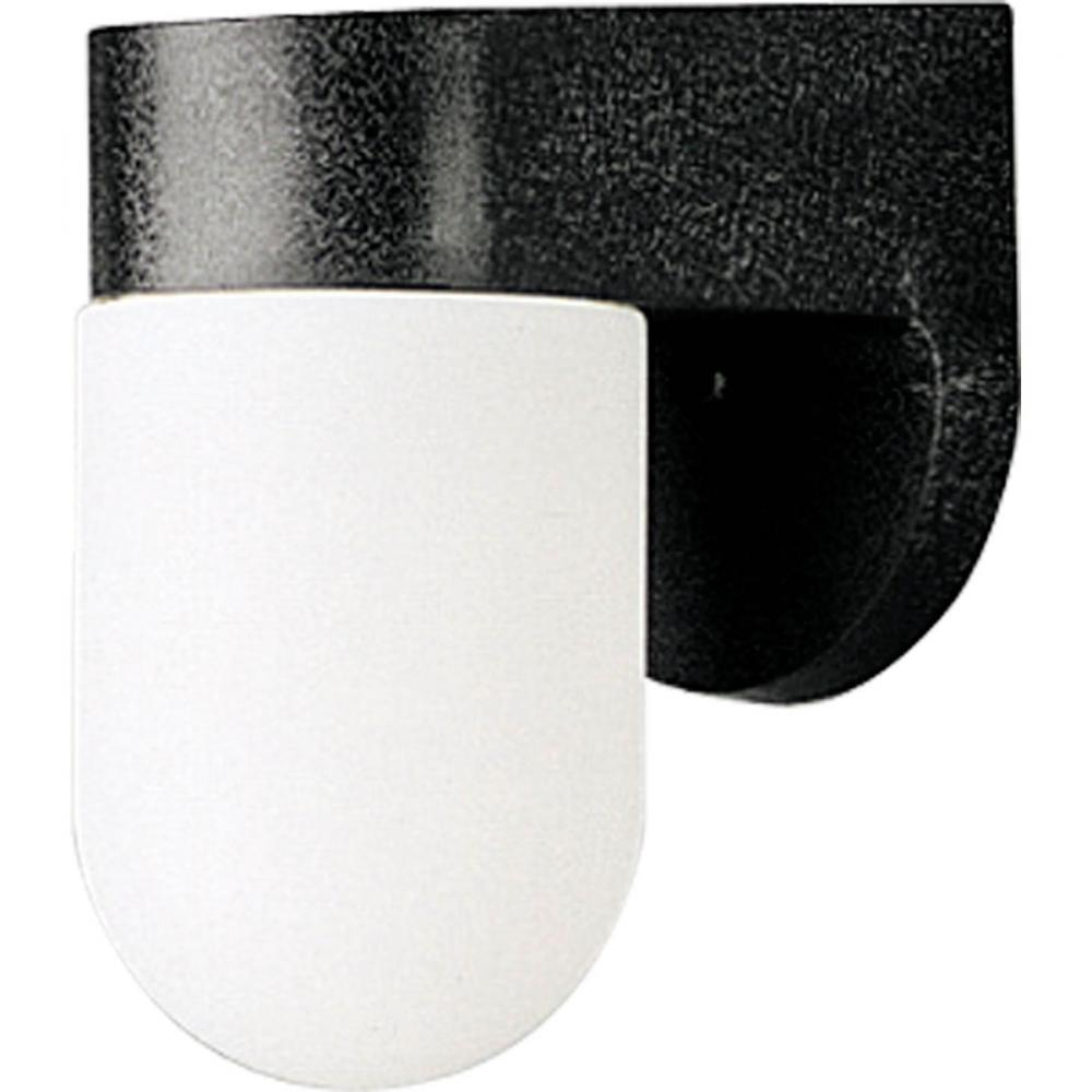 One Light Black White Acrylic Diffuser Glass Outdoor Wall Light