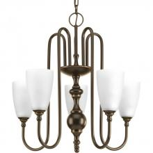 Progress P4235-20 - 5-Lt.Chandelier with Etched glass