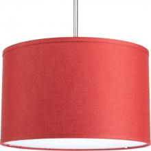 "Progress P8829-39 - 16"" drum shade modular pendant system in crimson. Must use with P5101, P5107, P5198 or P5199."