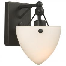 Galaxy Lighting 200161ORB - Single Wall Bracket - Oiled Rubbed Bronze w/ Frosted White Glass