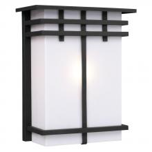 Galaxy Lighting 312491BK - Outdoor Wall Fixture - Black with White Acrylic Lens