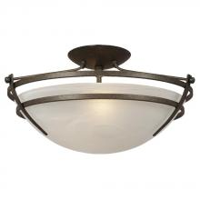 Galaxy Lighting 606371AGB - Semi-Flush Mount - Aged Bronze w/ Marbled Glass