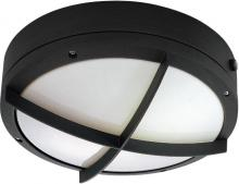 "Nuvo 60-2543 - Hudson ES - 2 Light 13w GU24 - 10"" Round Wall / Ceiling Fixture w/ Cross Grill"