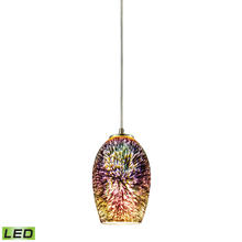ELK Lighting 10506/1-LED - Illusions 1 Light LED Pendant In Satin Nickel