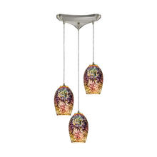 ELK Lighting 10506/3 - Illusions 3 Light Pendant In Satin Nickel