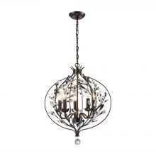 ELK Lighting 18136/5 - Circeo 5 Light Chandelier In Deep Rust